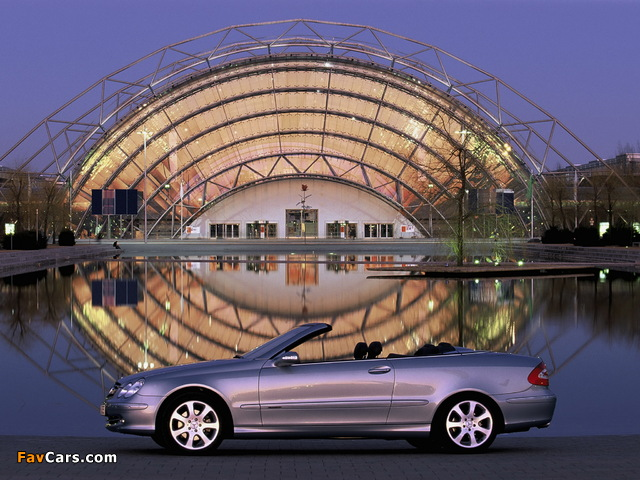 Photos of Mercedes-Benz CLK 240 Cabrio (A209) 2003–05 (640 x 480)