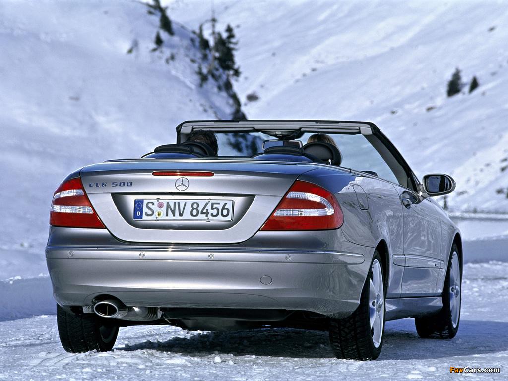 Photos of Mercedes-Benz CLK 500 Cabrio (A209) 2003–05 (1024 x 768)