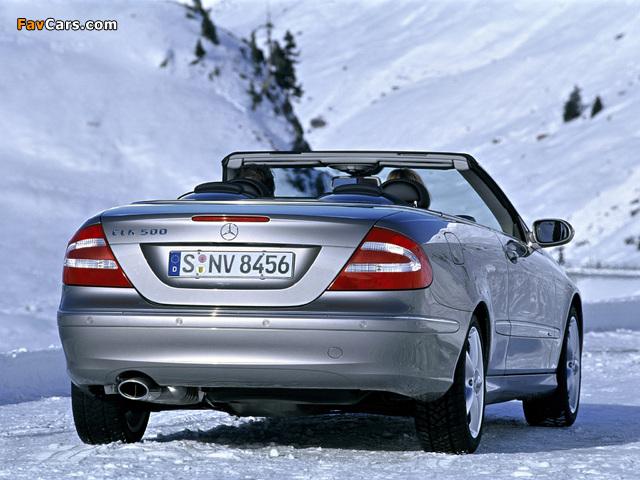 Photos of Mercedes-Benz CLK 500 Cabrio (A209) 2003–05 (640 x 480)