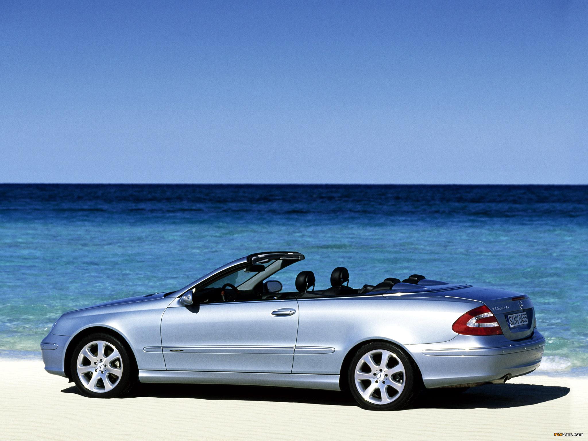 Photos of Mercedes-Benz CLK 240 Cabrio (A209) 2003–05 (2048 x 1536)