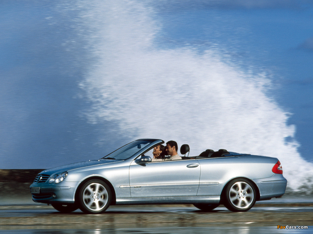 Photos of Mercedes-Benz CLK 240 Cabrio (A209) 2003–05 (1024 x 768)