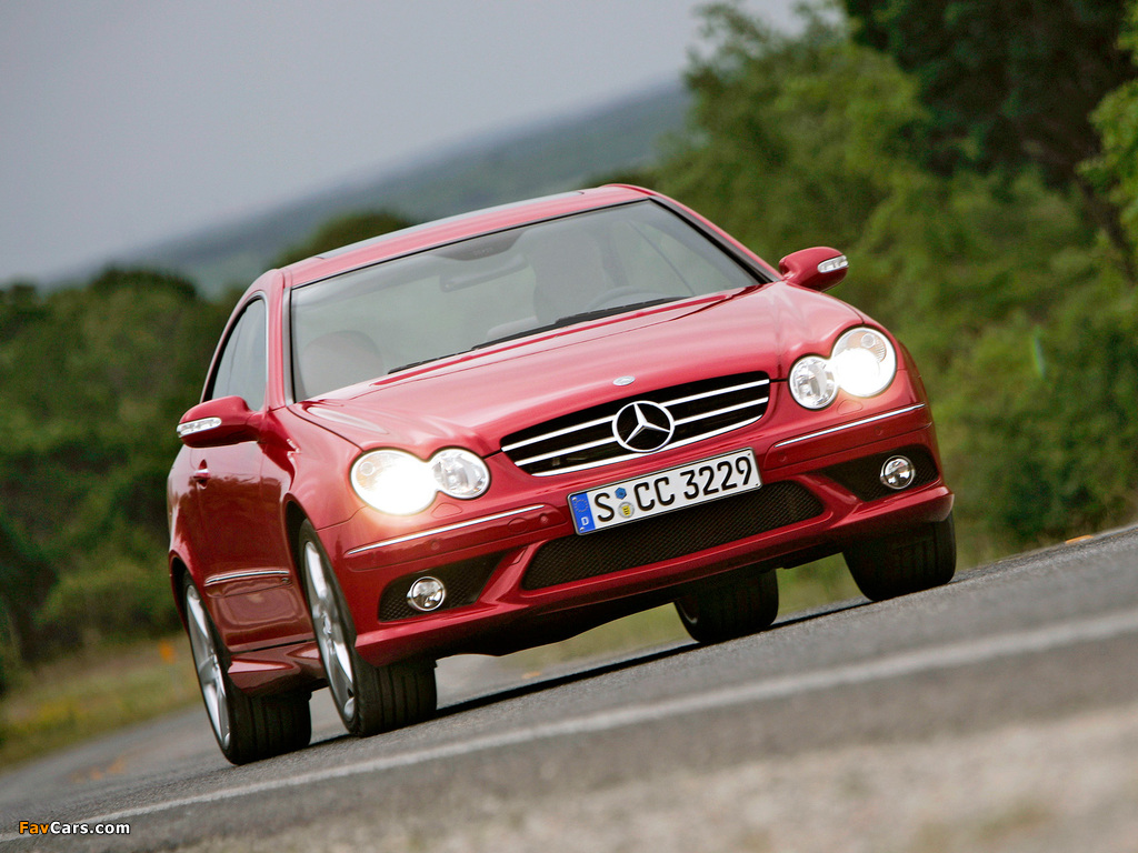 Photos of Mercedes-Benz CLK 320 CDI AMG Sports Package (C209) 2005–09 (1024 x 768)