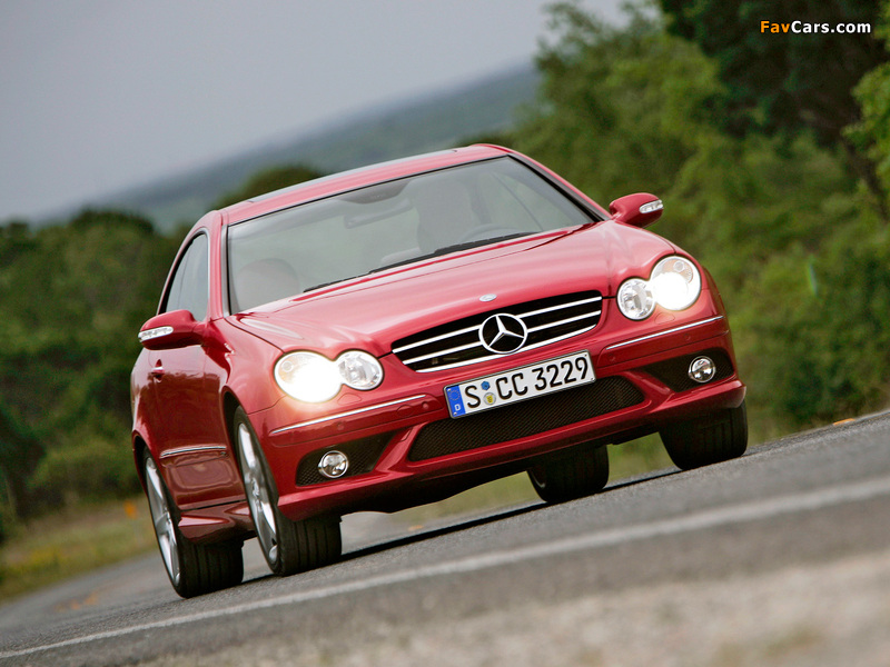 Photos of Mercedes-Benz CLK 320 CDI AMG Sports Package (C209) 2005–09 (800 x 600)