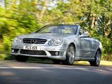 Photos of Mercedes-Benz CLK 63 AMG Cabrio UK-spec (A209) 2006–10