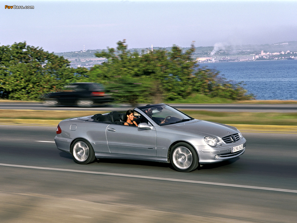 Pictures of Mercedes-Benz CLK 240 Cabrio (A209) 2003–05 (1024 x 768)
