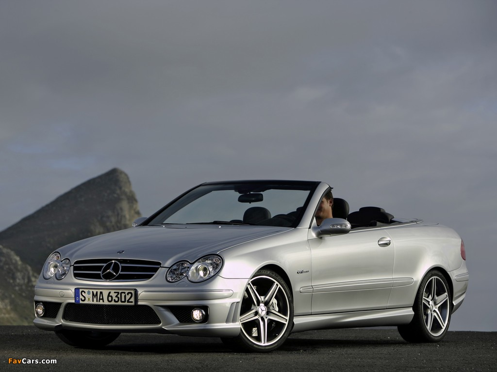Pictures of Mercedes-Benz CLK 63 AMG Cabrio (A209) 2006–10 (1024 x 768)