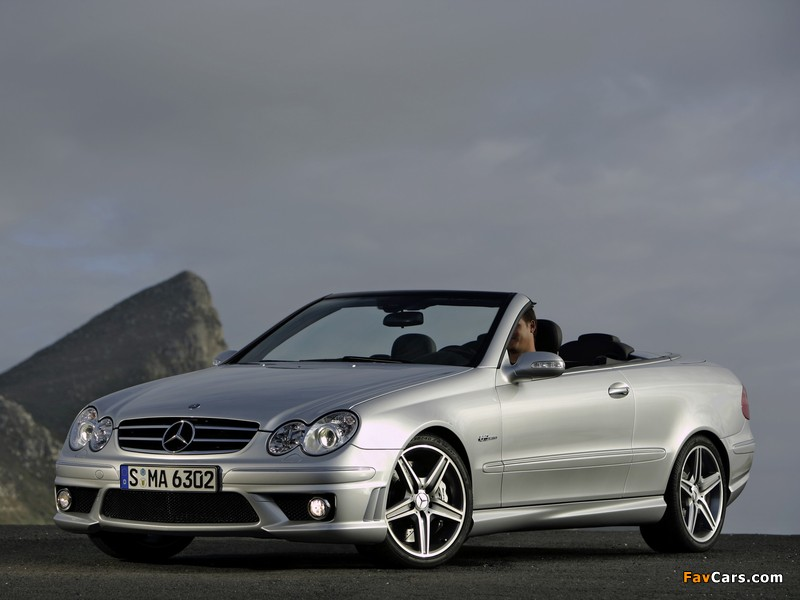 Pictures of Mercedes-Benz CLK 63 AMG Cabrio (A209) 2006–10 (800 x 600)