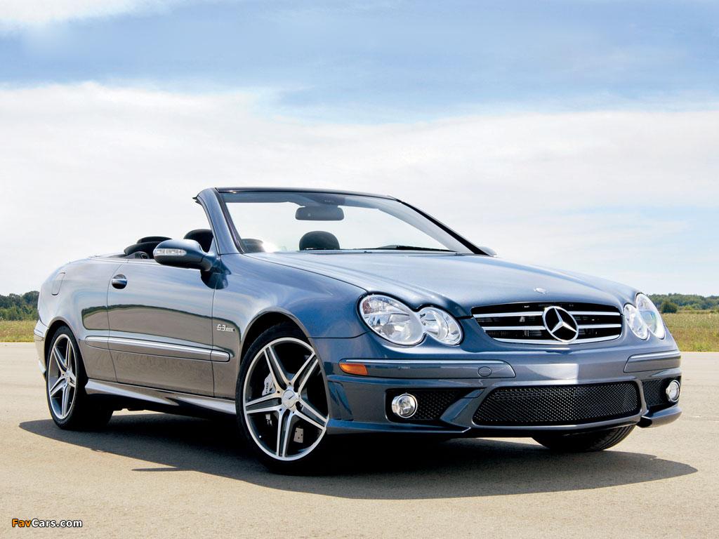 Pictures of Mercedes-Benz CLK 63 AMG Cabrio US-spec (A209) 2006–10 (1024 x 768)
