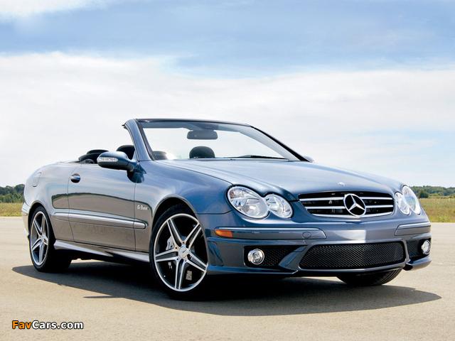 Pictures of Mercedes-Benz CLK 63 AMG Cabrio US-spec (A209) 2006–10 (640 x 480)