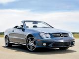 Pictures of Mercedes-Benz CLK 63 AMG Cabrio US-spec (A209) 2006–10