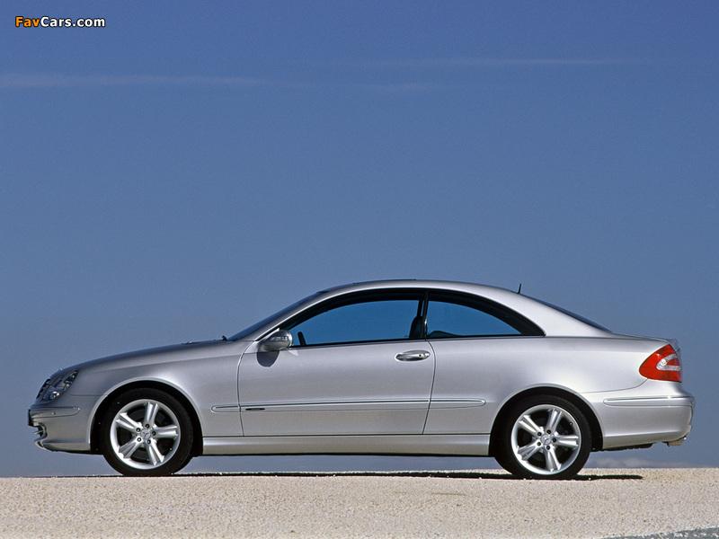 Mercedes-Benz CLK 500 (C209) 2002–05 wallpapers (800 x 600)