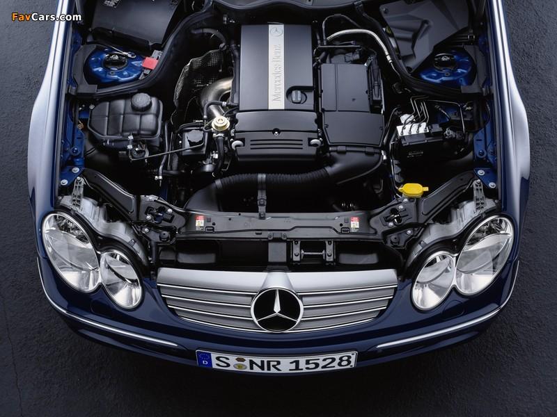 Mercedes-Benz CLK 240 Cabrio (A209) 2003–05 wallpapers (800 x 600)