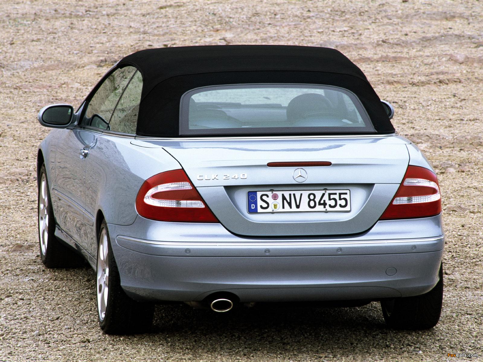 Mercedes-Benz CLK 240 Cabrio (A209) 2003–05 wallpapers (1600 x 1200)