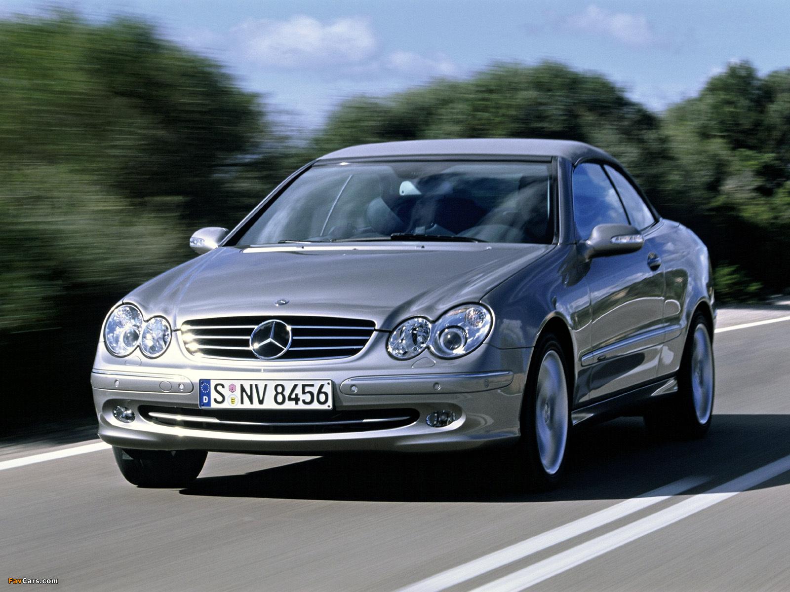 Mercedes-Benz CLK 500 Cabrio (A209) 2003–05 wallpapers (1600 x 1200)