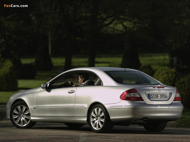 Mercedes-Benz CLK 350 (C209) 2005–09 wallpapers (800 x 600)