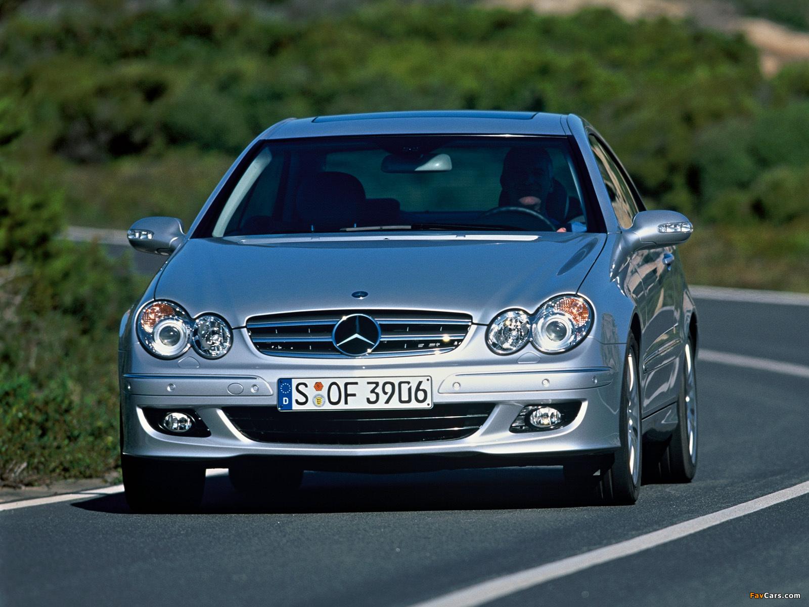 Mercedes-Benz CLK 350 (C209) 2005–09 wallpapers (1600 x 1200)