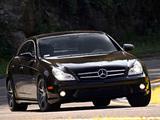 Images of Mercedes-Benz CLS 63 AMG US-spec (C219) 2008–10