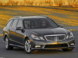 Mercedes-Benz E 350 4MATIC Estate AMG Sports Package US-spec (S212) 2010–12 wallpapers