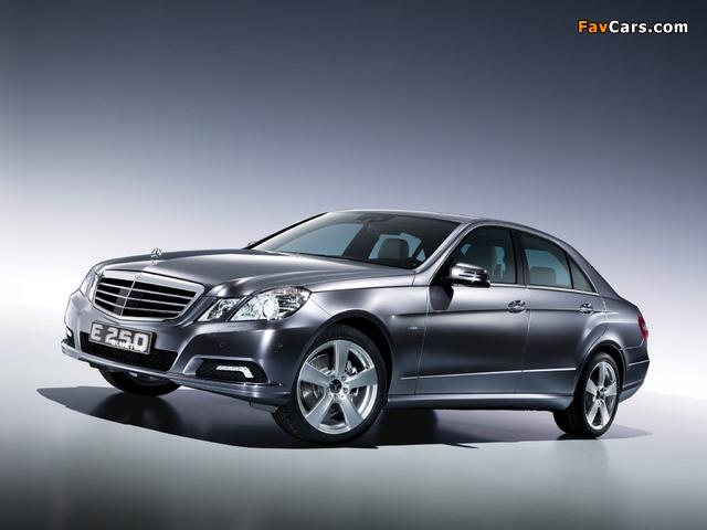 Mercedes Benz E 250 Bluetec Concept W212 2009 Wallpapers 640x480
