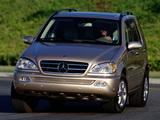 Images of Mercedes-Benz ML 500 US-spec (W163) 2001–05