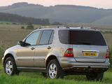 Mercedes-Benz ML 350 UK-spec (W163) 2001–05 pictures