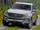 Mercedes-Benz ML 350 US-spec (W166) 2011 photos