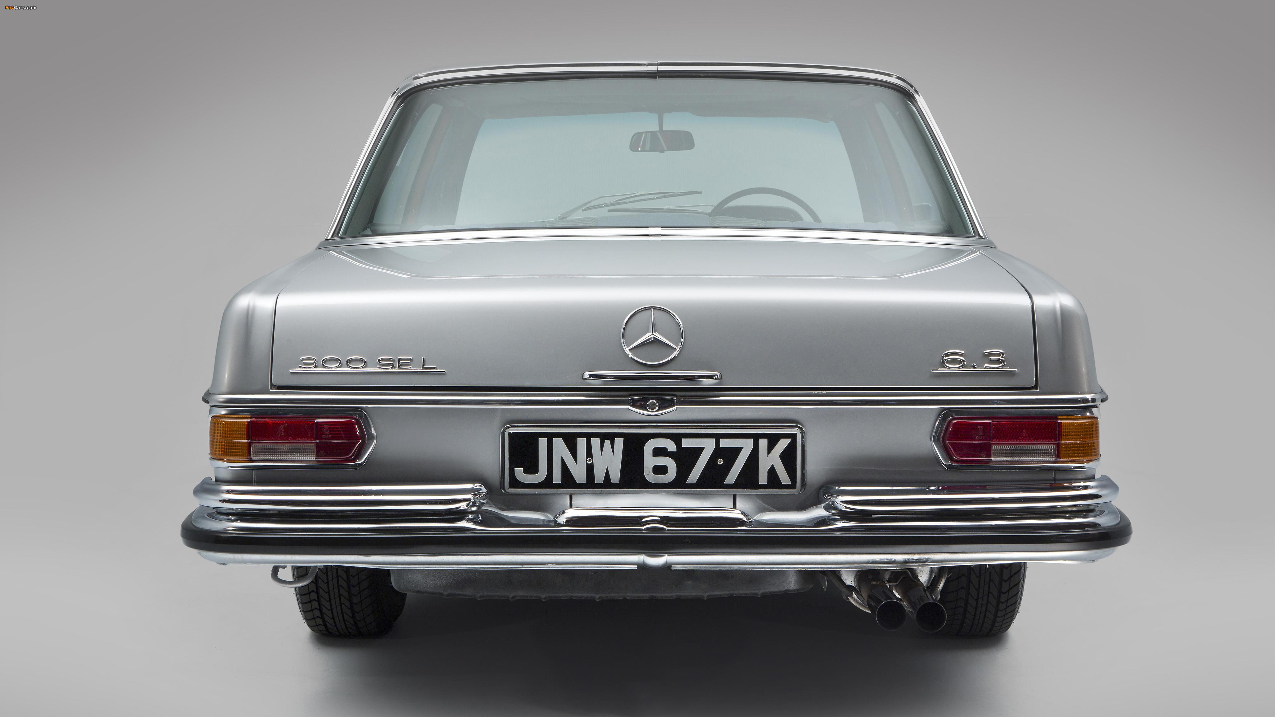 Images of Mercedes-Benz 300 SEL 6.3 UK-spec (W109) 1967–72 (4096 x 2304)