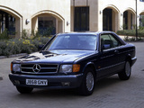 Images of Mercedes-Benz S-Klasse Coupe UK-spec (C126) 1981–91