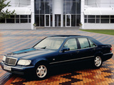 Images of Mercedes-Benz S-Klasse UK-spec (W140) 1993–98