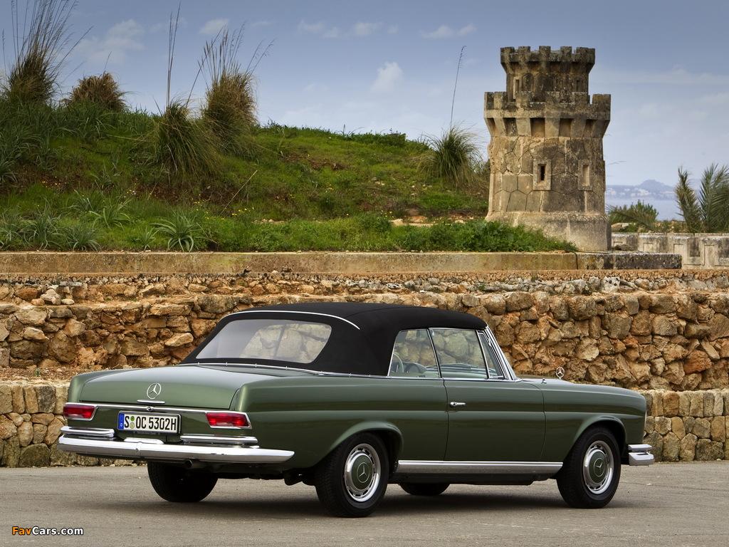 Mercedes-Benz 220 SE Cabriolet (W111) 1961–65 photos (1024 x 768)