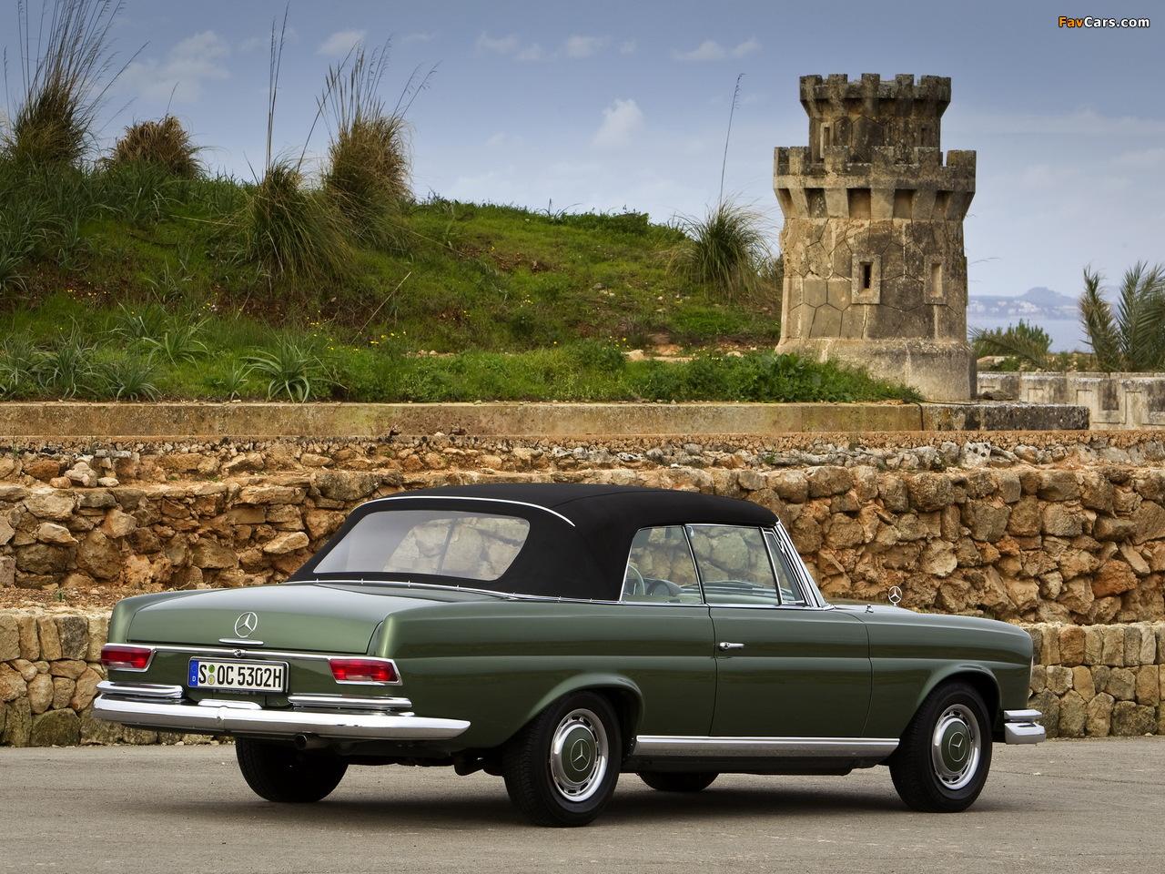 Mercedes-Benz 220 SE Cabriolet (W111) 1961–65 photos (1280 x 960)