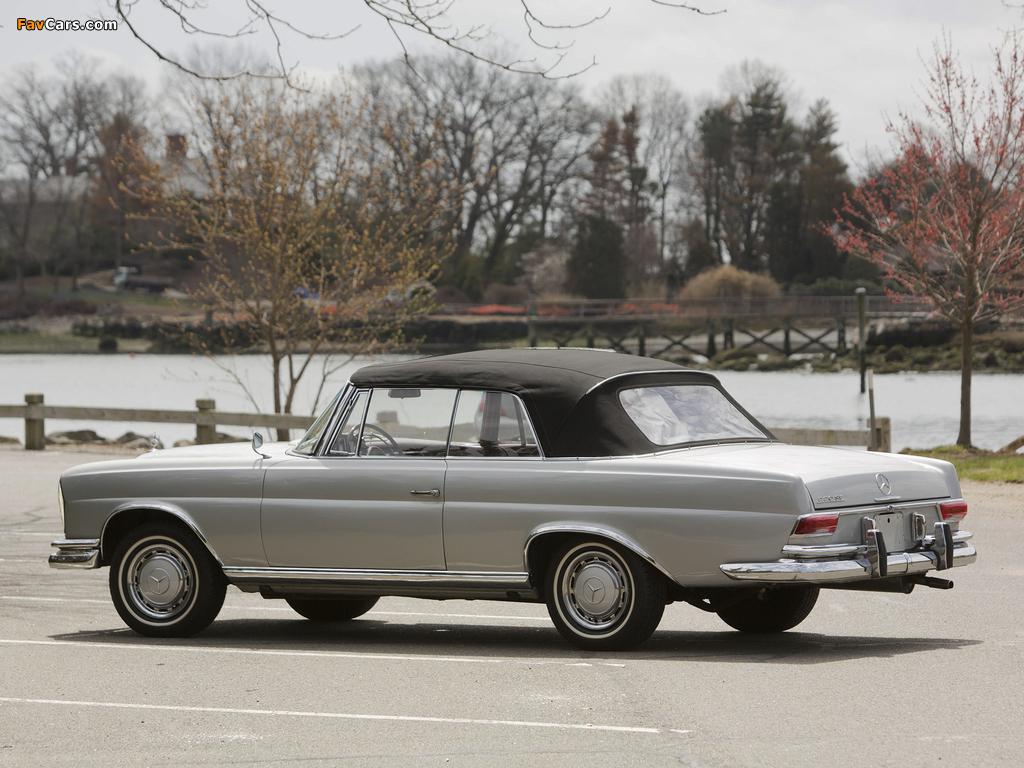 Mercedes-Benz 220 SE Cabriolet US-spec (W111) 1961–65 pictures (1024 x 768)