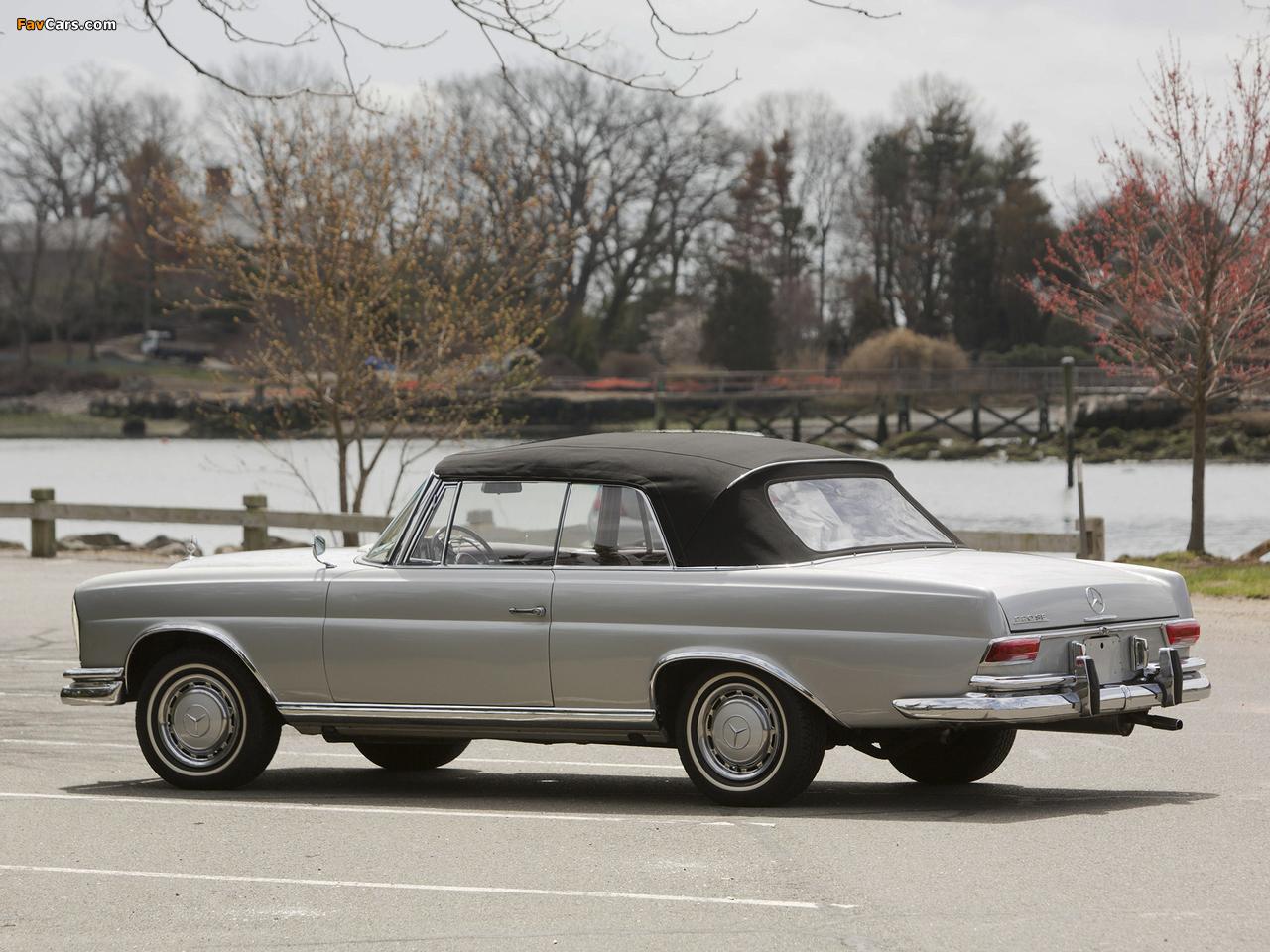 Mercedes-Benz 220 SE Cabriolet US-spec (W111) 1961–65 pictures (1280 x 960)