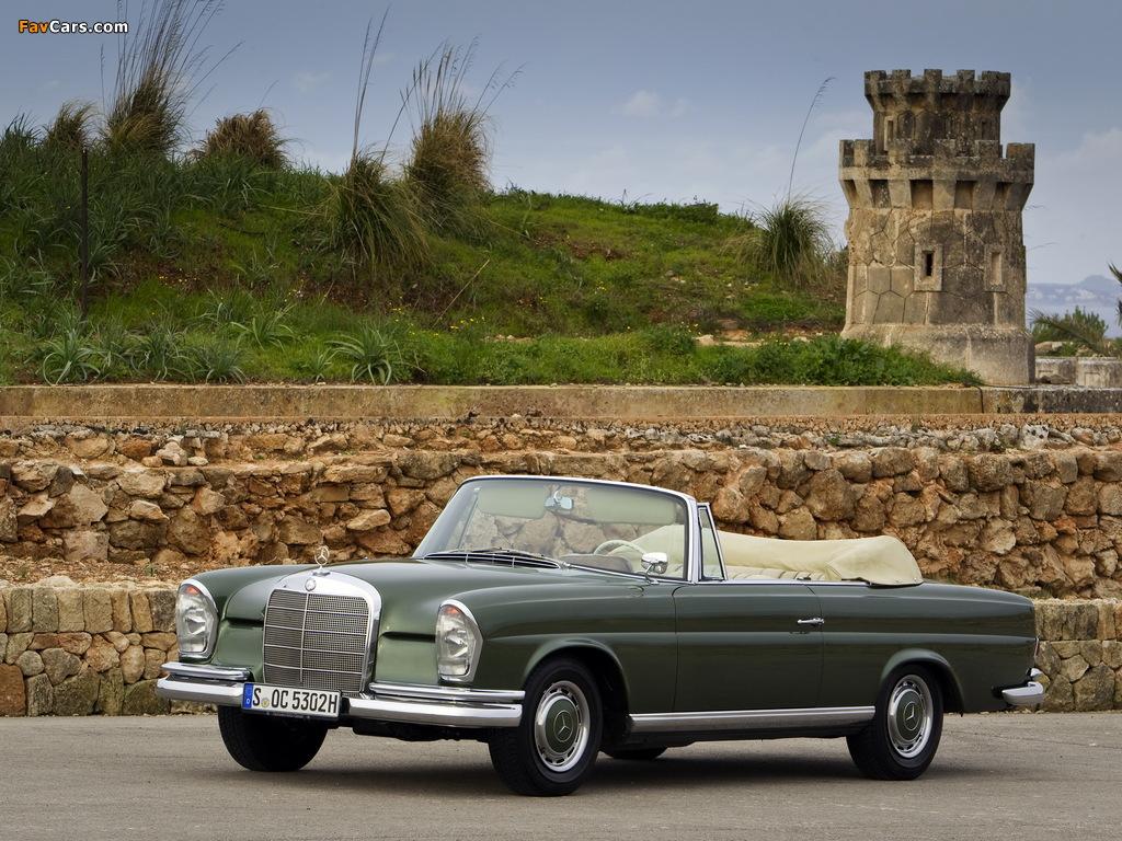 Mercedes-Benz 220 SE Cabriolet (W111) 1961–65 wallpapers (1024 x 768)