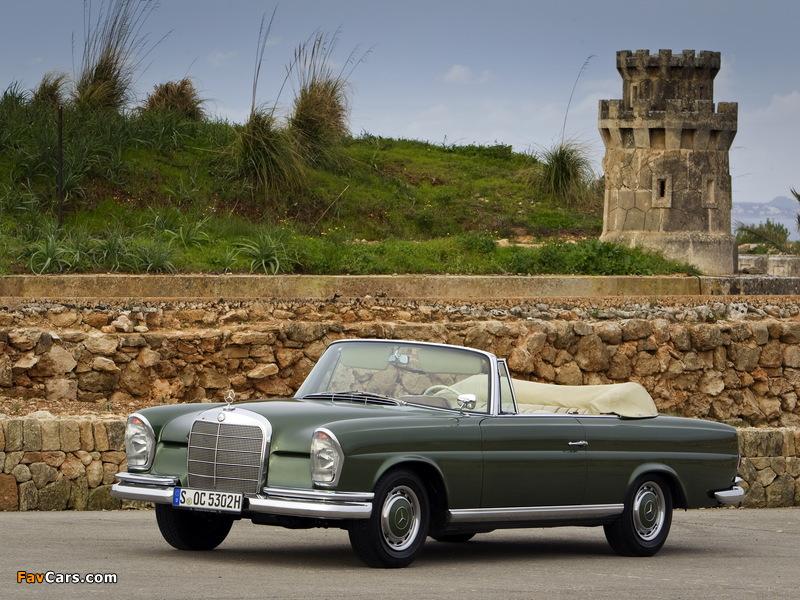 Mercedes-Benz 220 SE Cabriolet (W111) 1961–65 wallpapers (800 x 600)