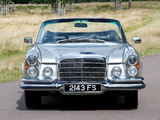 Mercedes-Benz 280 SE Cabriolet UK-spec (W111) 1967–71 wallpapers