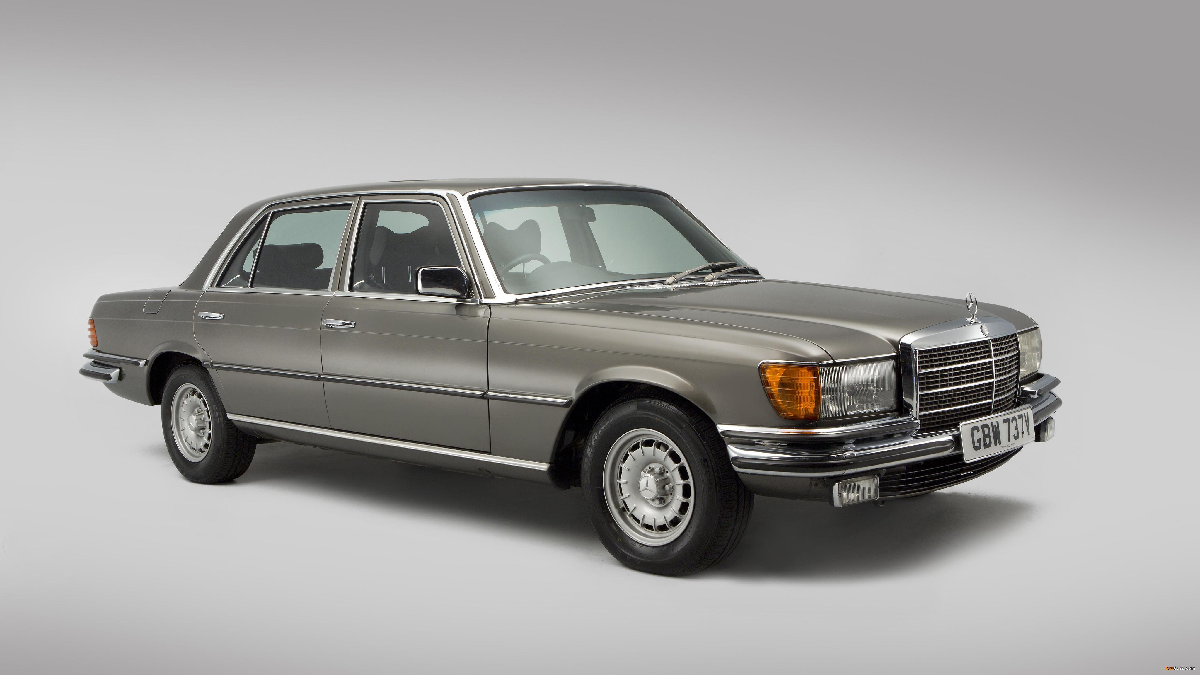 Mercedes-Benz 450 SEL UK-spec (W116) 1972–80 wallpapers (4096 x 2304)