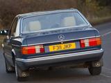 Mercedes-Benz 380 SEC UK-spec (C126) 1981–85 wallpapers