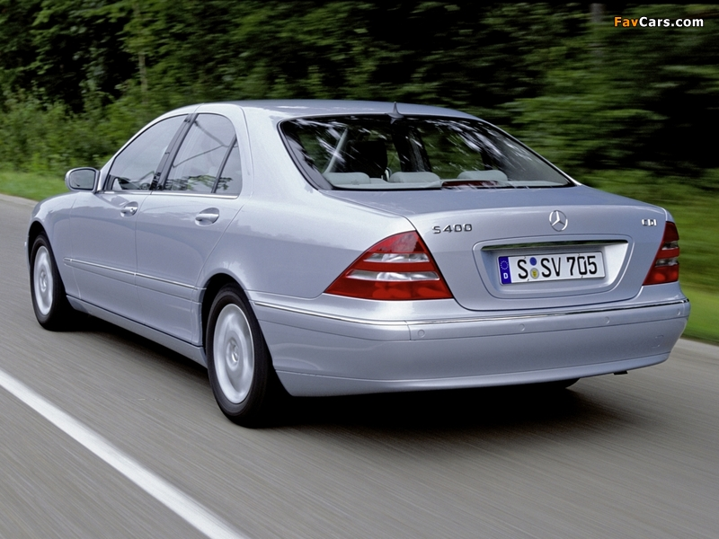 Mercedes-Benz S 400 CDI (W220) 1999–2002 images (800 x 600)