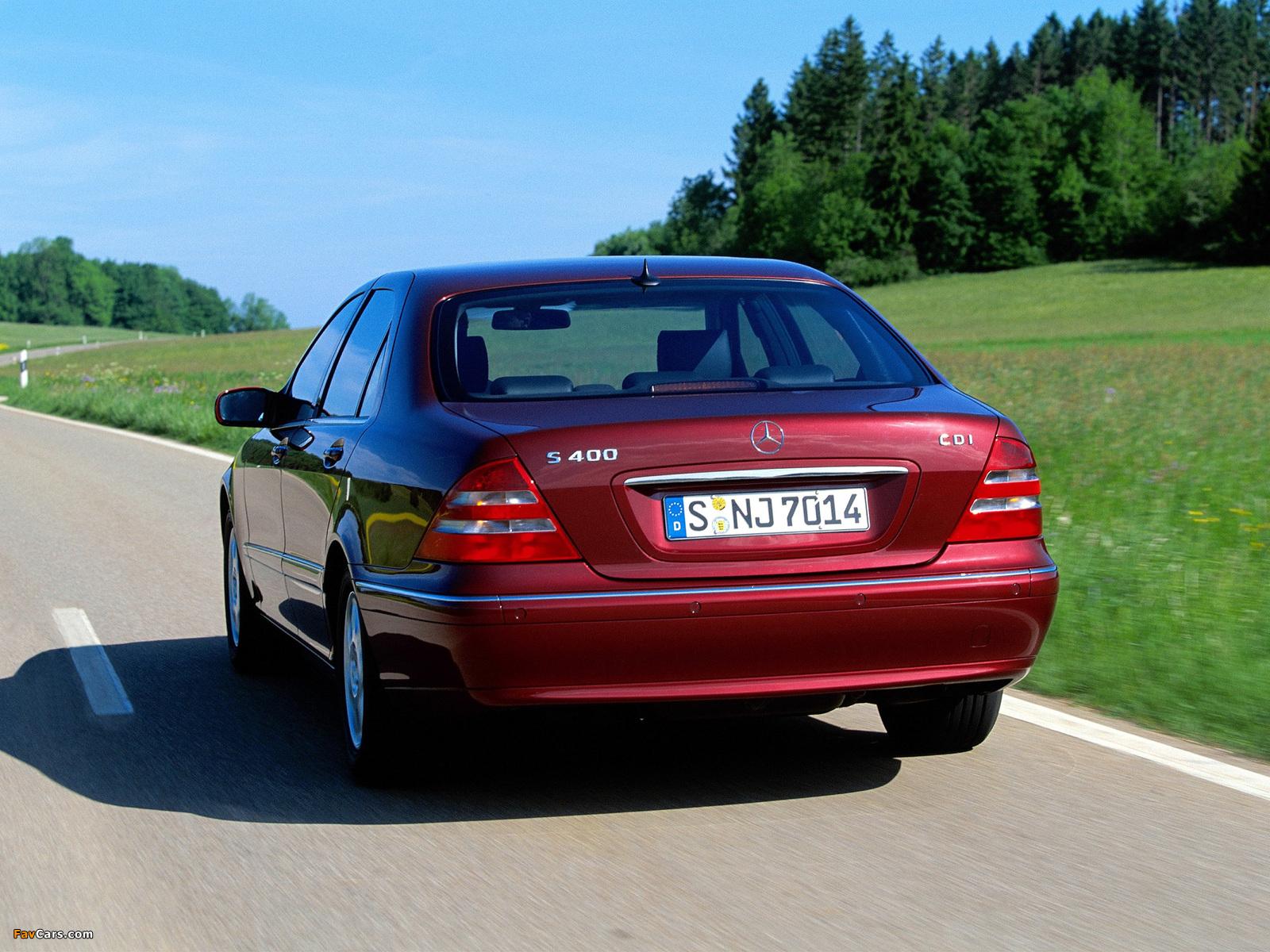 Mercedes-Benz S 400 CDI (W220) 1999–2002 photos (1600 x 1200)