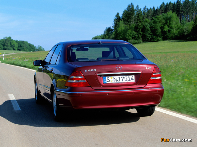 Mercedes-Benz S 400 CDI (W220) 1999–2002 photos (640 x 480)