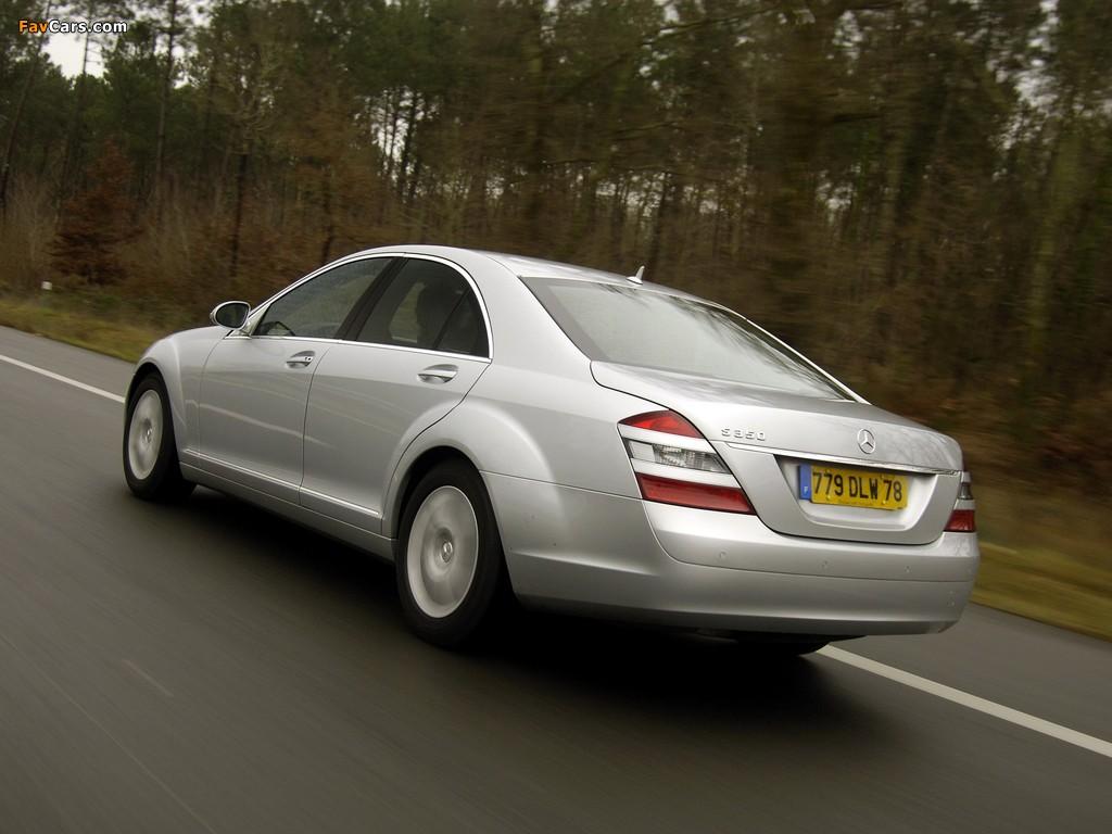 Mercedes-Benz S 350 (W221) 2005–09 images (1024 x 768)