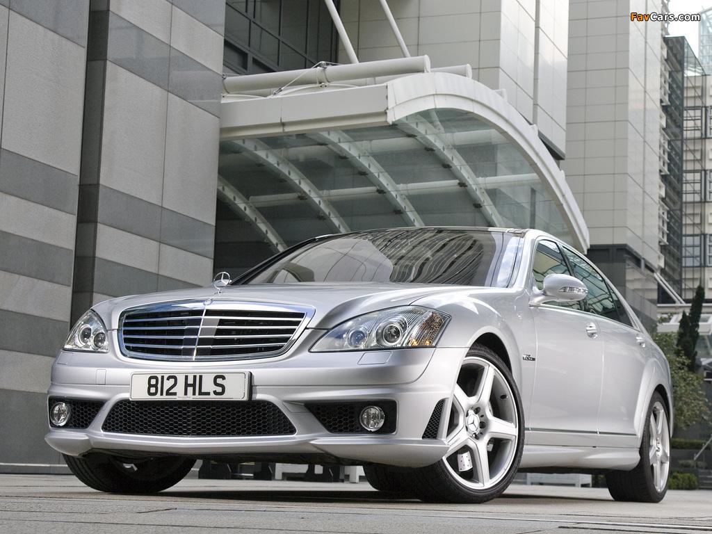 Mercedes-Benz S 63 AMG UK-spec (W221) 2006–09 images (1024 x 768)