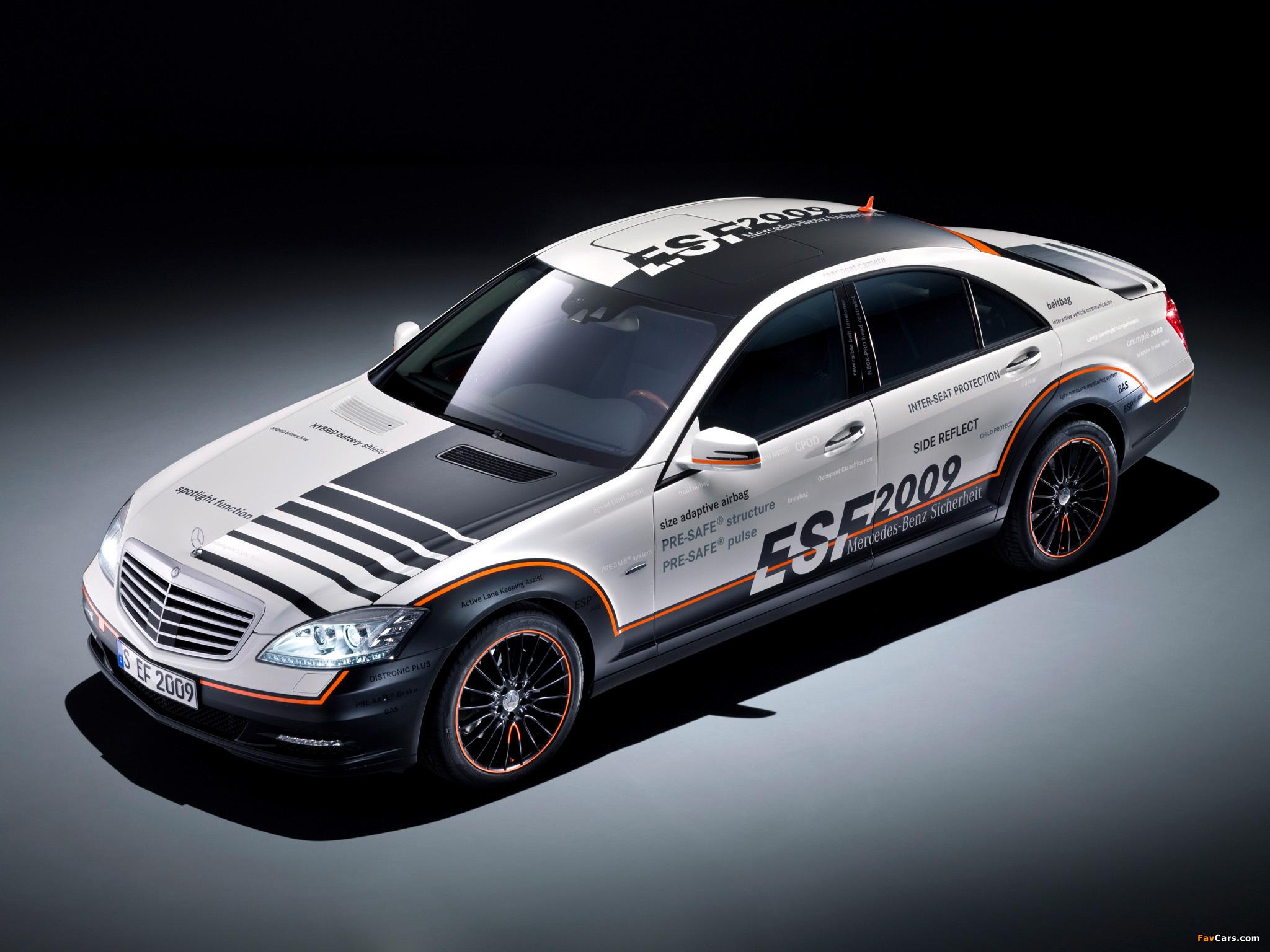 Mercedes-Benz S 400 Hybrid ESF Concept (W221) 2009 images (2048 x 1536)