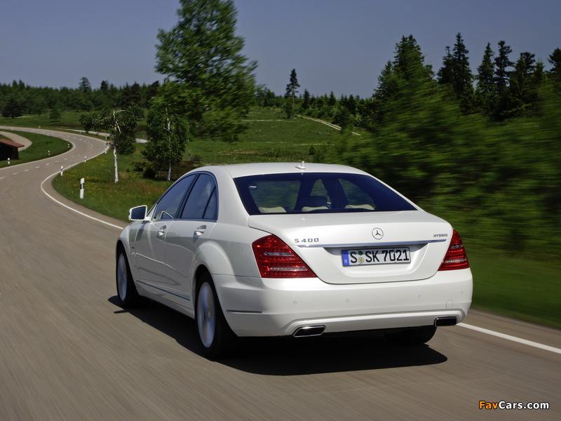 Mercedes-Benz S 400 Hybrid (W221) 2009–13 photos (800 x 600)