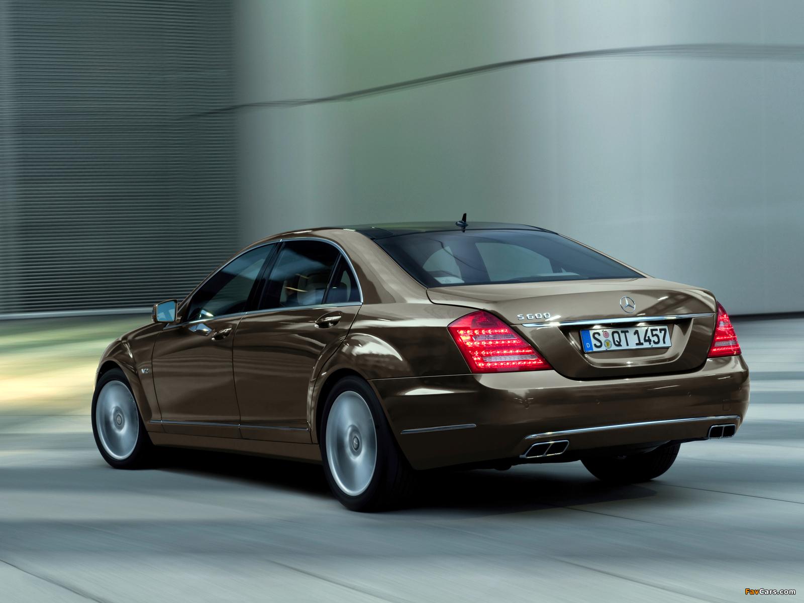 Mercedes-Benz S 600 (W221) 2009–13 pictures (1600 x 1200)