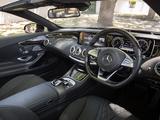 Mercedes-Benz S 500 Cabriolet AU-spec (A217) 2016 pictures