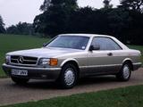 Photos of Mercedes-Benz S-Klasse Coupe UK-spec (C126) 1981–91