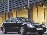 Photos of Mercedes-Benz S 600 UK-spec (W220) 2002–05