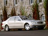 Photos of Mercedes-Benz S 600 US-spec (W220) 2002–05